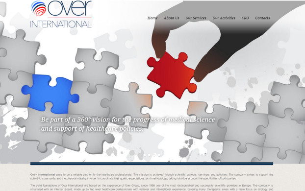 Over International - realizzazione sito web